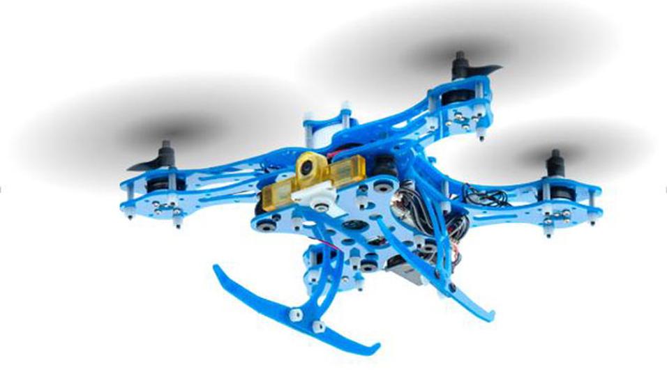Slik ser den Snapdragon Flight-baserte referansedronen ut. Qualcomm kaller den en av verdens minste 4K-droner.