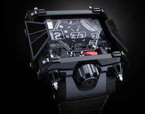 Klokken har et design som Star Wars-fansen enkelt vil kunne kjenne igjen.