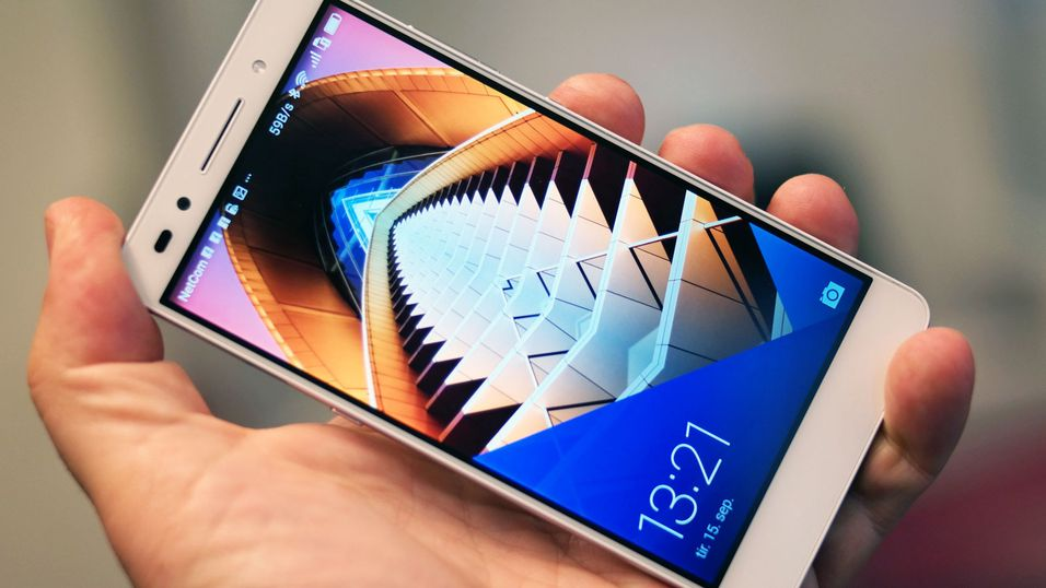 Huawei gjør det skarpt for tiden. Dette er selskapets toppmodell Honor 7.