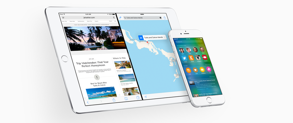 iOS 9 er klar for nedlasting. (Foto: Apple).