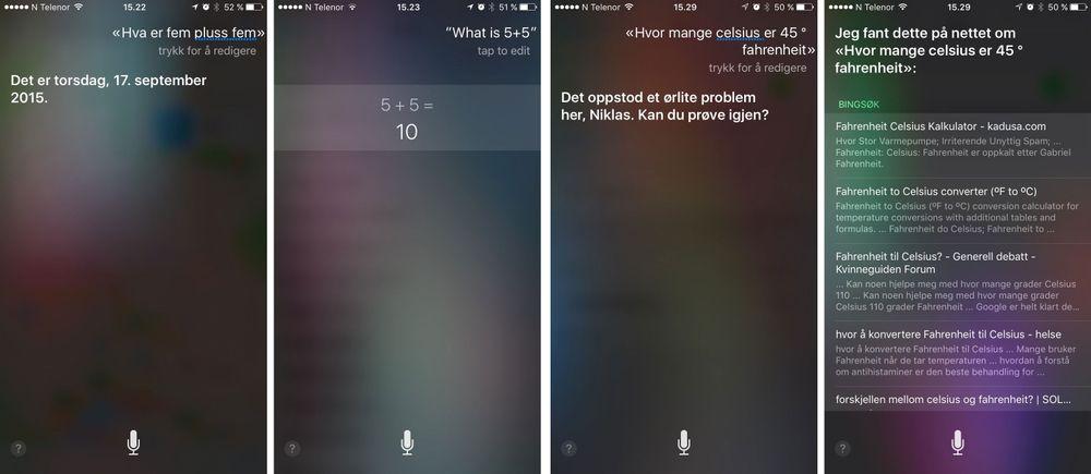Siri får stryk i barneskole-matte.