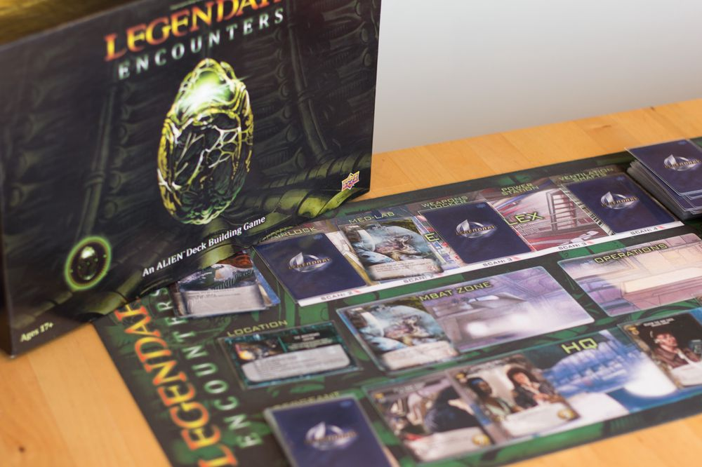 Legendary Encounters: An Alien Deck Building Game.