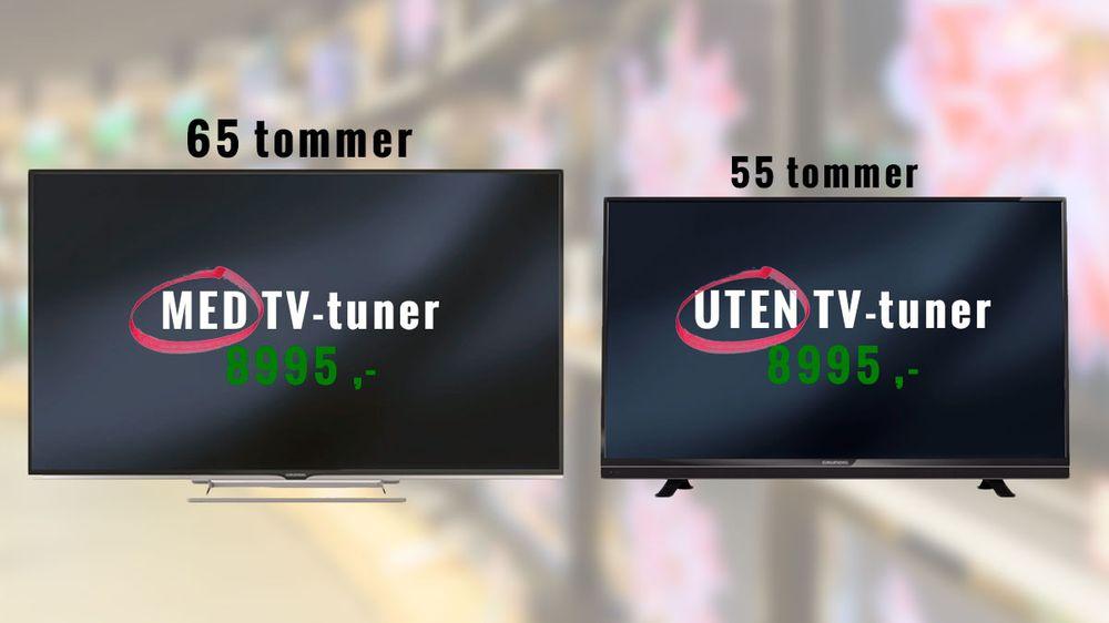 Det er nesten bare tuneren som skiller de to modellene, men prisen er den samme.