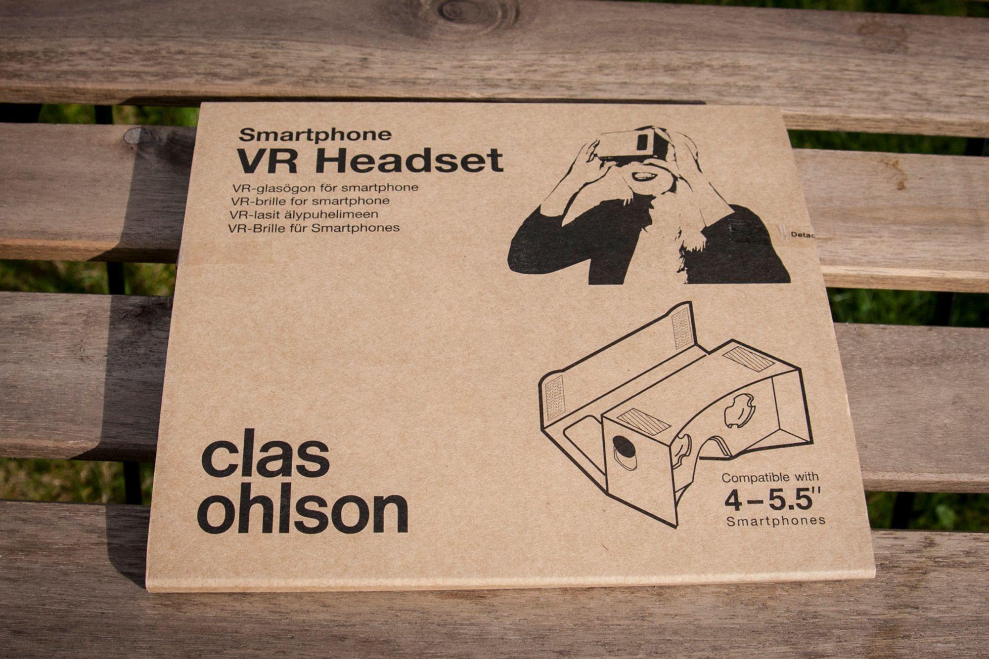 clas ohlson vr cardboard