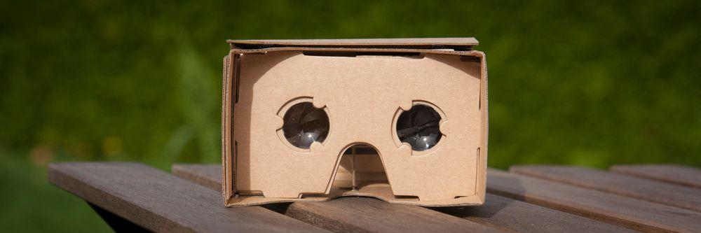 Clas Ohlsons egen versjon av Google Cardboard.