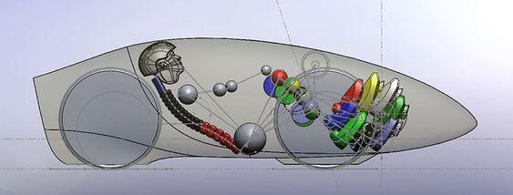 Tegning av sykkelen.