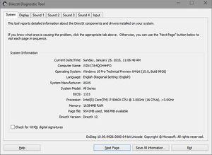 «Dxdiag» viser deg hvilken DirectX-versjon skjermkortet eller APU-en din støtter i Windows 10.