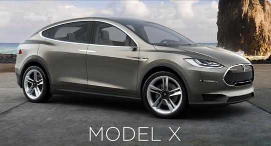 Model X, slik den akkurat nå fremstår på Teslas hjemmesider.