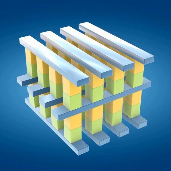 Slik er en celle i 3D XPoint bygget opp.
