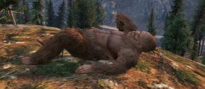 Bigfoot dukker opp flere ganger i spillet.