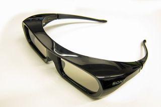 Tidlige, aktive 3D-briller fra Sony.