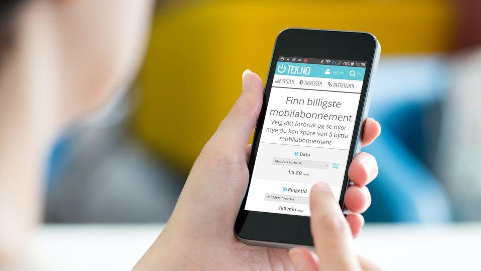 Vår Mobilabonnement-tjeneste hjelper deg med å finne det abonnementet som passer best til ditt bruk.