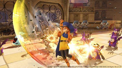 Dragon Quest Heroes byr på ei solid dose action og fyrverkeri.
