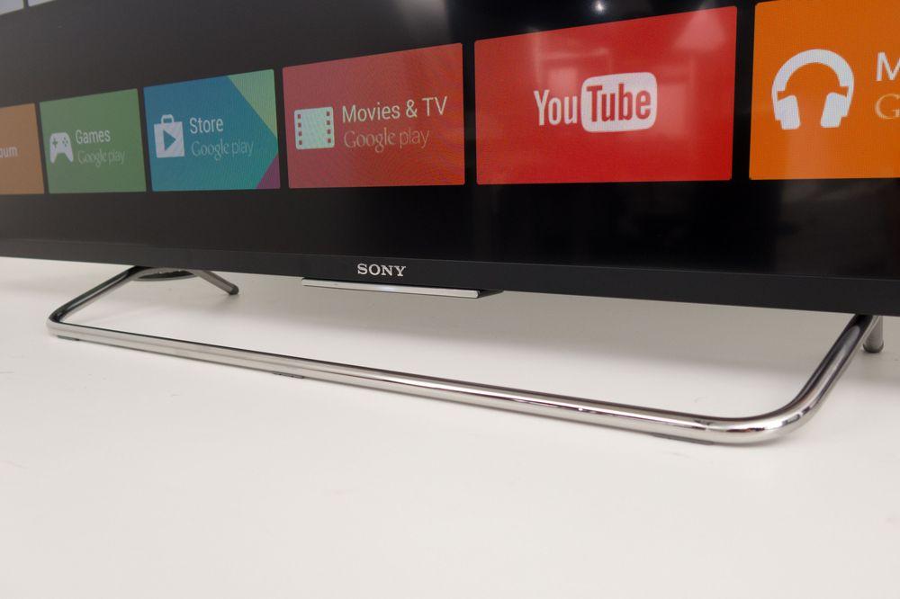 Foten gjør lite ut av seg, akkurat som resten av utseende på TV-en fra Sony.