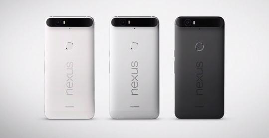 Nexus 6P kommer i tre forskjellige farger.