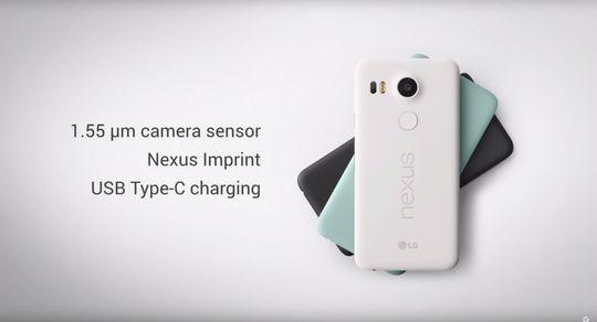 Nexus 5x kommer også i tre (litt mer gøyale) farger.