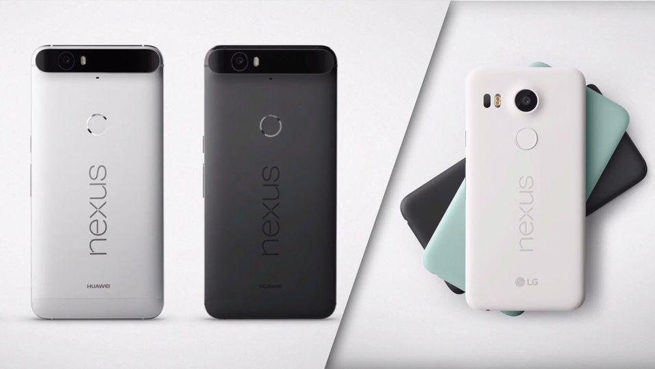 Nexus 6P til venstre, Nexus 5X til høyre.
