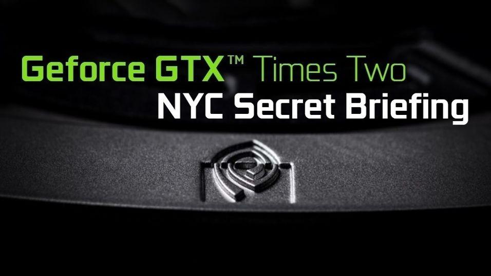 Nvidia skal ha holdt en hemmelig visning av et mektig grafikkort i New York. Invitasjonen hinter om doble grafikkortkjerner.