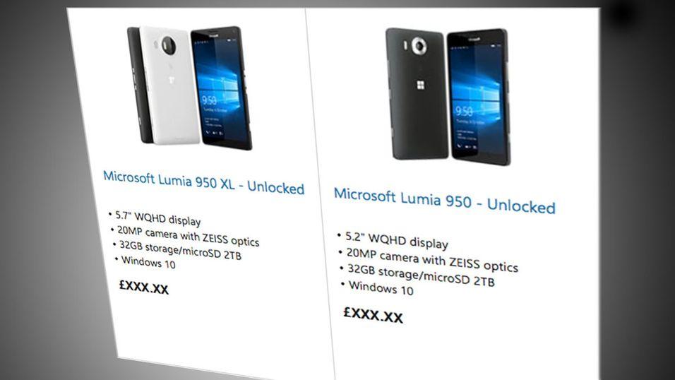 Her er Microsofts nye toppmobiler: Lumia 950 XL og Lumia 950.