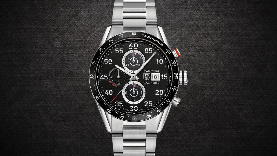Smartklokken blir en modernisert utgave av denne klokken, «Carrera», og blir ganske dyre saker.