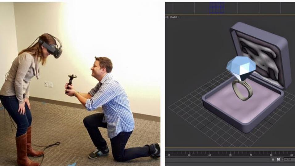 Tidenes mest nerdete frieri ble realisert ved hjelp av VR-briller