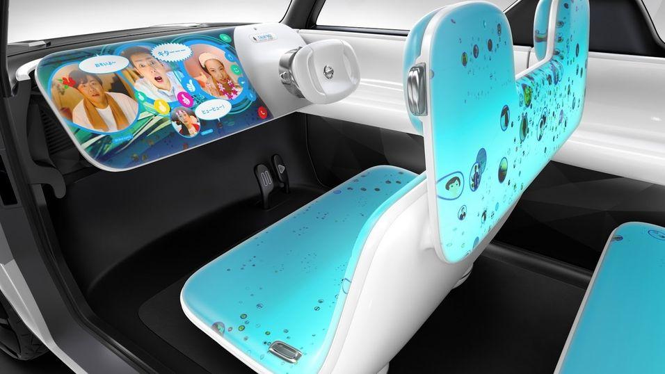 Slik ser Nissans nye konseptbil ut på innsiden.