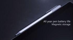 Pennen kan festes til toppen av Surface Pro 4, og lades automatisk derfra.