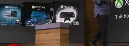 I bakgrunnen kan noen av de nye spesialversjonenen av Xbox One skimtes.