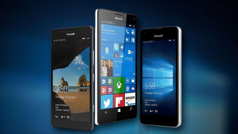 Windows 10 på mobil.