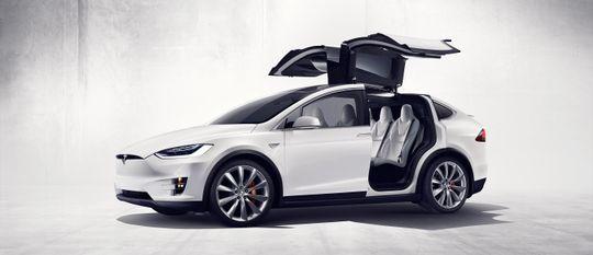 Falkevingedører ser unektelig tøft ut. Her ses hele konstruksjonen på nylig lanserte Model X.