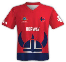 Slik ser den norske landslagsdrakten ut.
