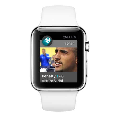 Forza Football på Apple Watch.
