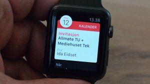 Tag Heuers smartklokke blir cirka dobbelt så dyr som Apple Watch, her avbildet.