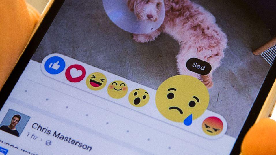 I stedet for en «liker ikke»-knapp, kan du snart velge mellom en rekke ulike følelser.