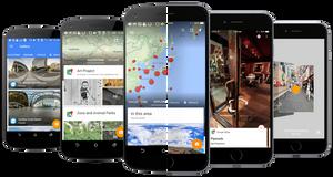 Den mobile Street View-appen ble sluppet i forrige måned og har nå fått støtte for VR-brillene Cardboard.
