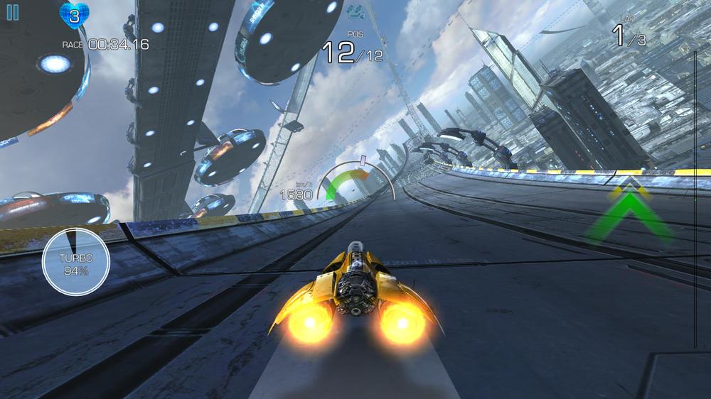 Trykker vi litt hardere, går det litt fortere. AG Drive er ett av de første spillene som støtter den trykkfølsomme skjermen.