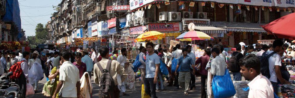 Mumbai er tett befolket og ett av områdene der Telenor jakter på å få leid spektrum.
