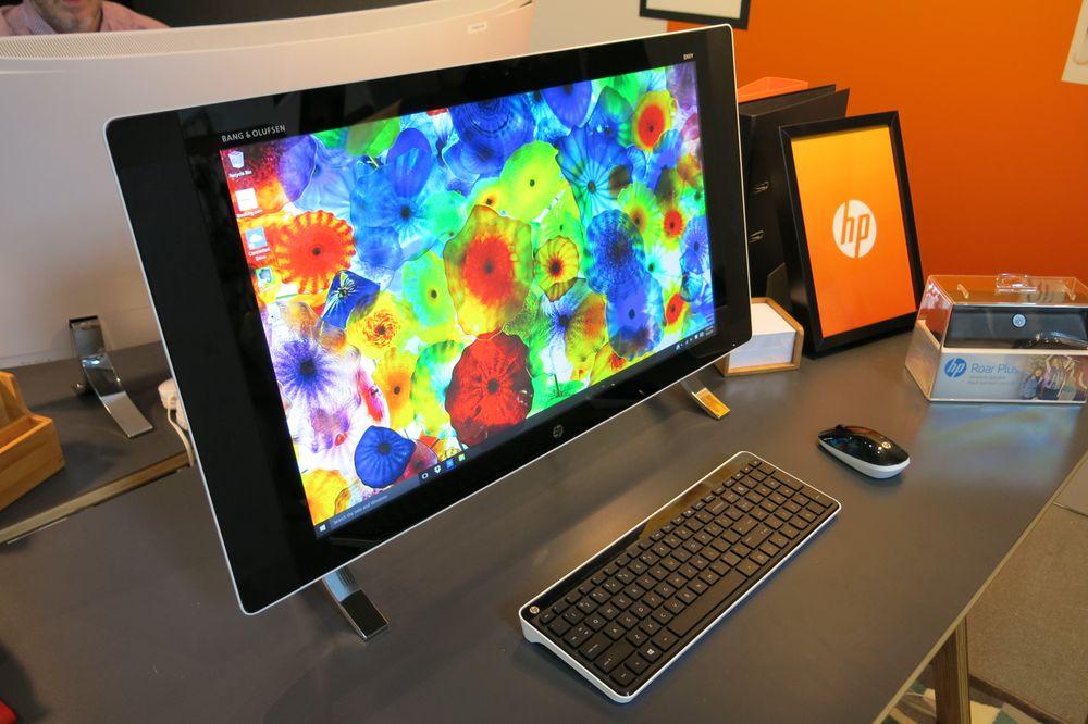 Envy 27-tommer med UHD-skjerm.