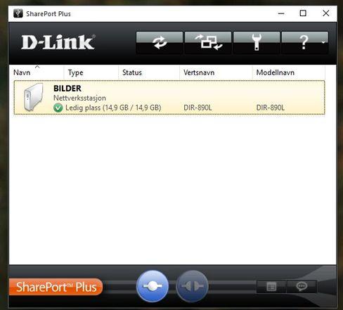 SharePort-programmet til Windows lar deg se innholdet på USB-enheter koblet til ruteren.