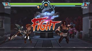 """Vanskelig å ikke høre for seg stemmen fra Street Fighter rope """"FIGHT""""."""
