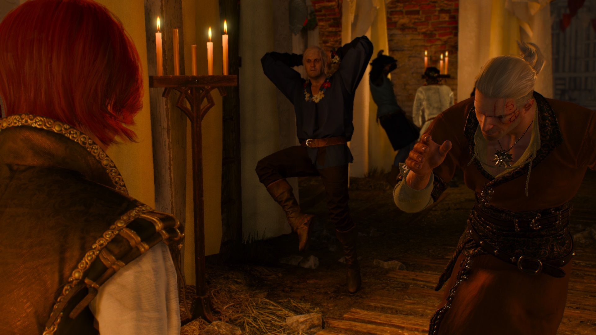 Geralt danser.