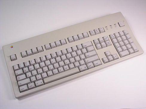 Slik så Apple Extended Keyboard ut i 1987.