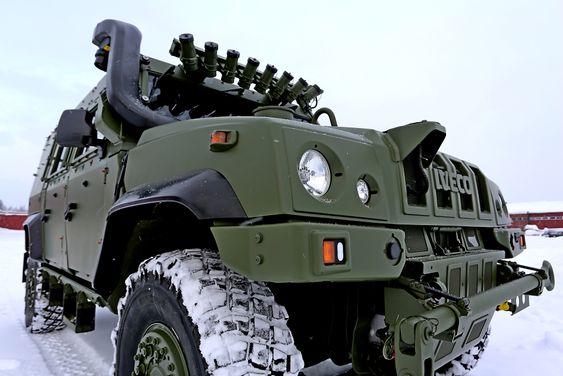 Dette var en av de første Iveco LAV 4 som Forsvarets logistikkorganisasjon gjennomførte mottakskontroll på i januar. Det foregikk på Romerike tekniske verksted (RTV) like ved Trandum leir.
