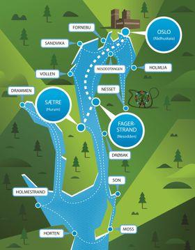 Det blå kollektivfeltet kan på sikt bli utvidet og strekke seg ned til Drøbak og helt til Moss, ifølge konsortiet som planlegger elektriske hurtiggående ferger.