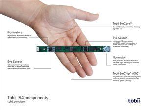 Tobii har laget en egen krets med alle komponentene til sensorteknologien. Klikk for større bilde.