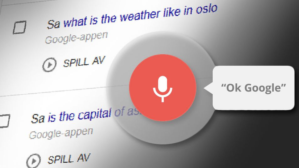 Hør opptak av alt du har søkt på med «OK Google»