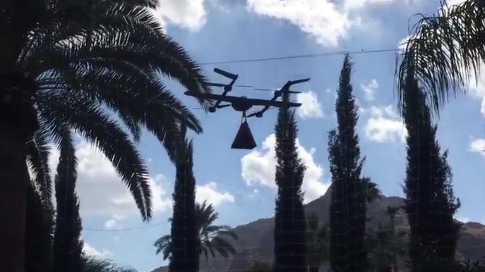 Her er Google-dronen i aksjon.