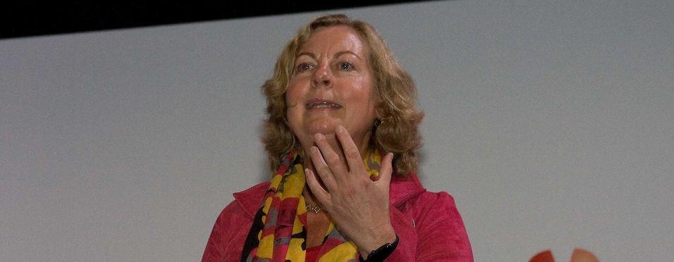 Administrerende diretør i Telenor Norge, Berit Svendsen, garanterte ingen ting annet enn endring da hun talte til Broadband World Forum.