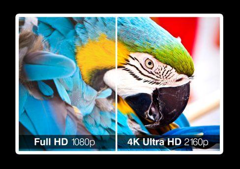 Her kan du se forskjellen i skarphet mellom Full HD og 4K UHD.