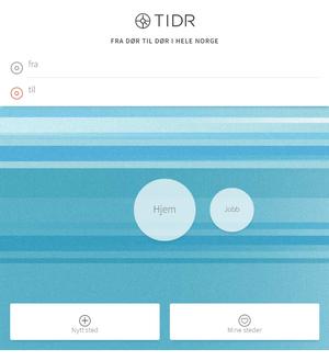 Slik ser forsiden til Tidr.no ut.